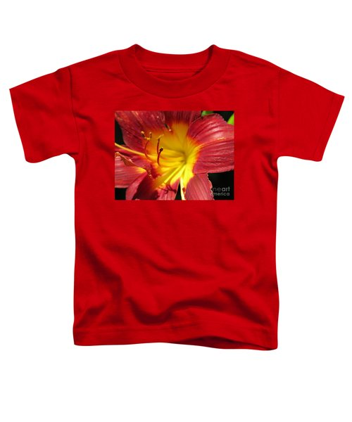 Red And Yellow Day Lily Toddler T-Shirt