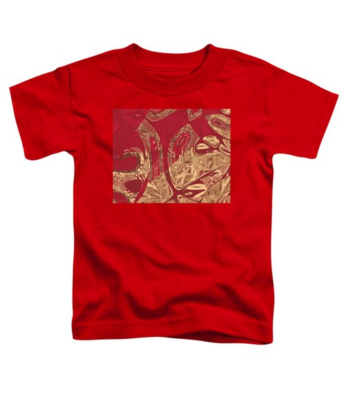 Red Geranium Abstract Toddler T-Shirt