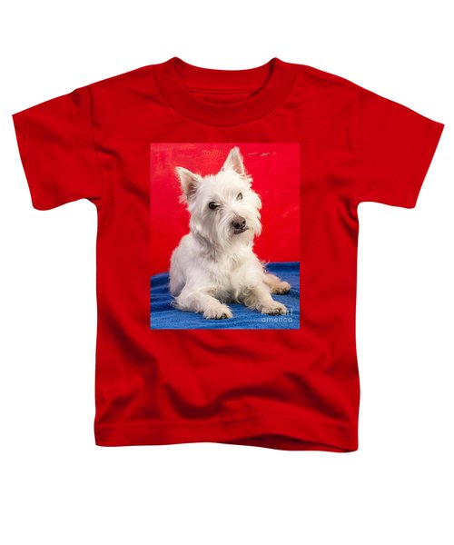Red White And Blue Westie Toddler T-Shirt