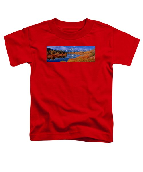 Reflection Of Mountains In The River Toddler T-Shirt