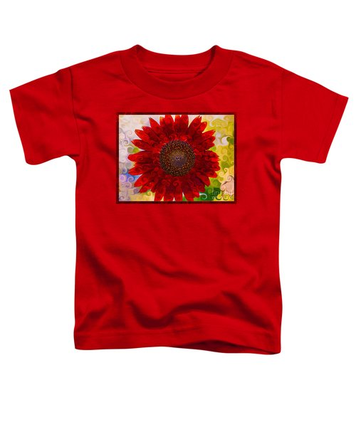 Royal Red Sunflower Toddler T-Shirt