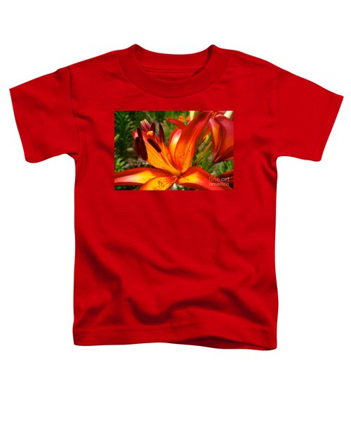 Royal Sunset Lily Toddler T-Shirt by Jacqueline Athmann
