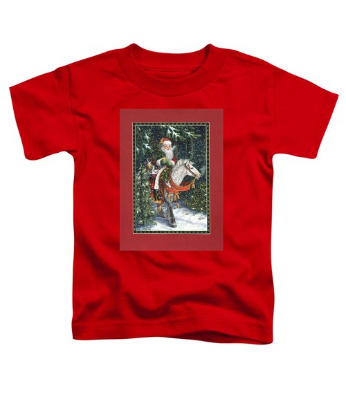 Santa Of The Northern Forest Toddler T-Shirt