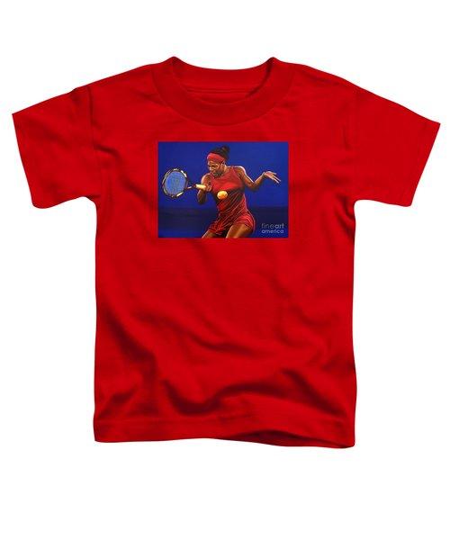 Serena Williams Painting Toddler T-Shirt