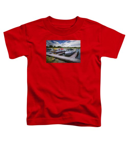 Toddler T-Shirt featuring the photograph Ski Nautique by Debra and Dave Vanderlaan