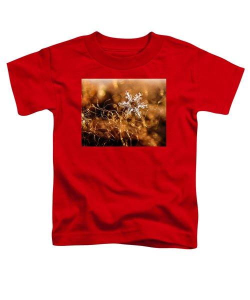 Snowflake On Brown Toddler T-Shirt