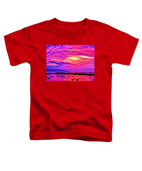 Sunset At Pupukea Toddler T-Shirt