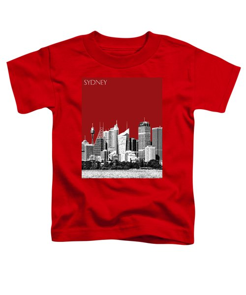Sydney Skyline 1 - Dark Red Toddler T-Shirt