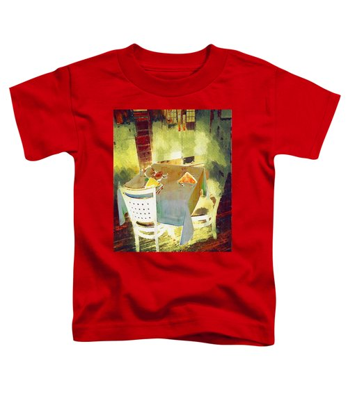 Table At The Fauve Cafe Toddler T-Shirt