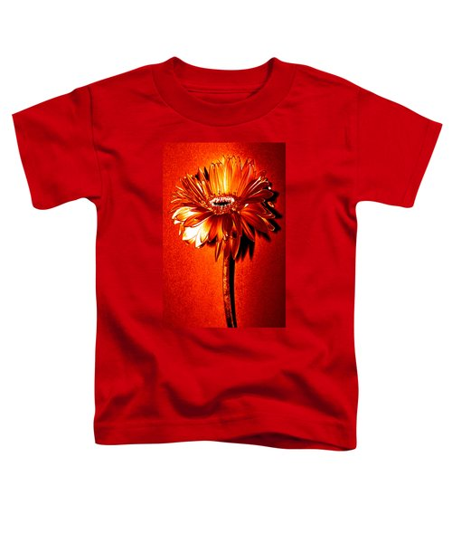 Tequila Sunrise Zinnia Toddler T-Shirt by Sherry Allen