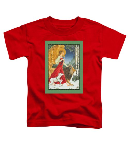 The Angel The Lion And The Lamb Toddler T-Shirt