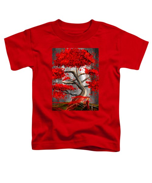 True Love Waits - Red And Gray Art Toddler T-Shirt