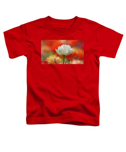 White Tulip Weisse Gefuellte Tulpe Toddler T-Shirt
