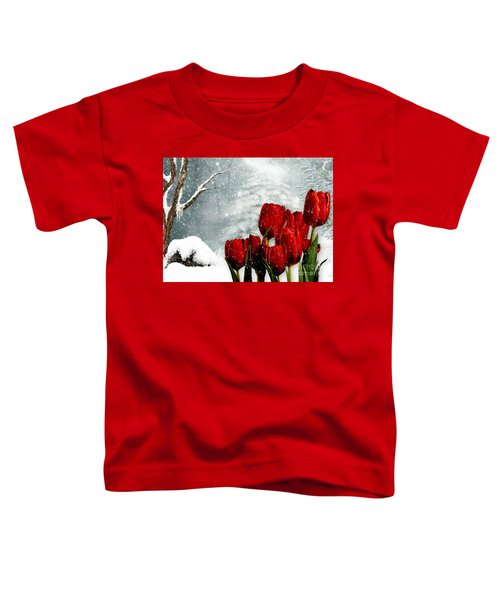 Winter Tulips Toddler T-Shirt