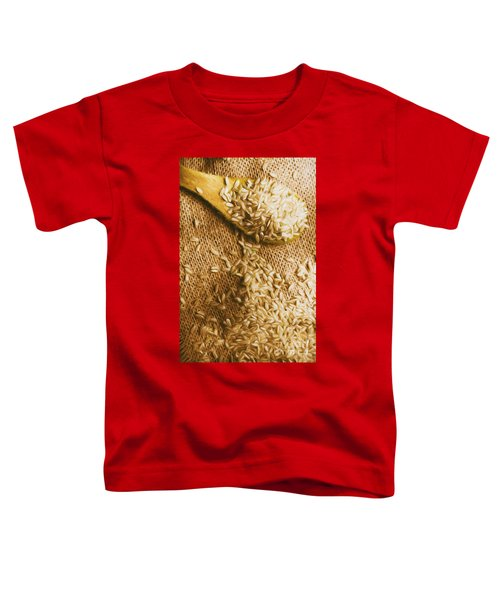 Wooden Tablespoon Serving Of Uncooked Brown Rice Toddler T-Shirt