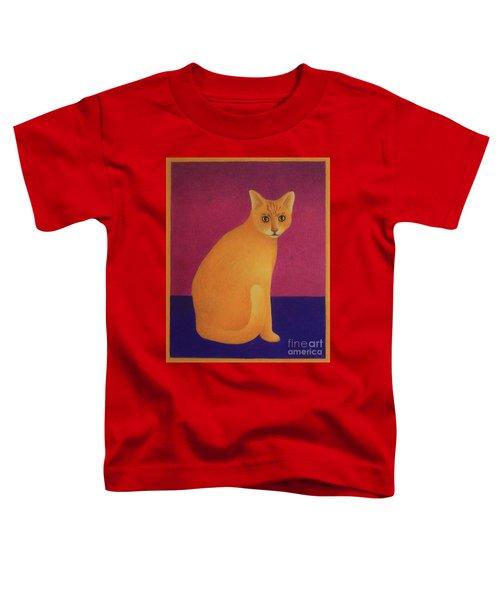 Yellow Cat Toddler T-Shirt