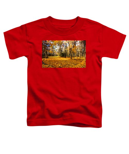 Yellow Leaf Road Toddler T-Shirt