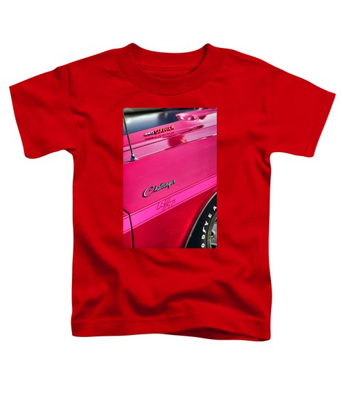 1970 Dodge Challenger Rt 440 Six Pack - Tickled Pink Toddler T-Shirt