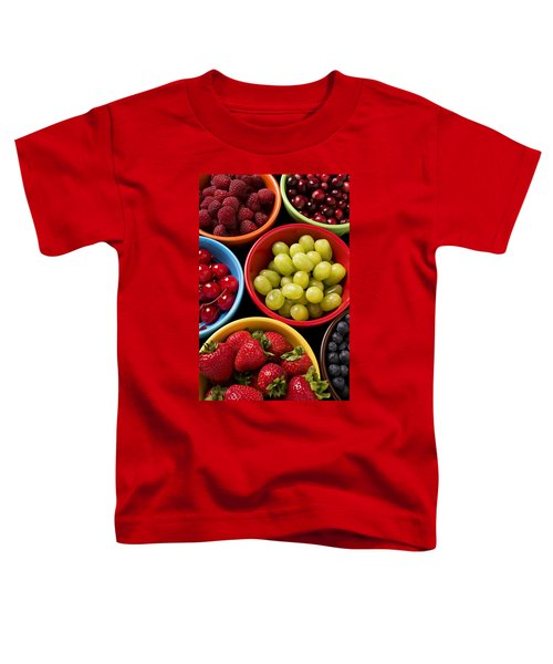 Bowls Of Fruit Toddler T-Shirt by Garry Gay