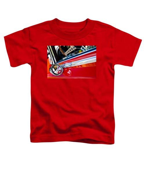 Classic Red Car Artwork Toddler T-Shirt