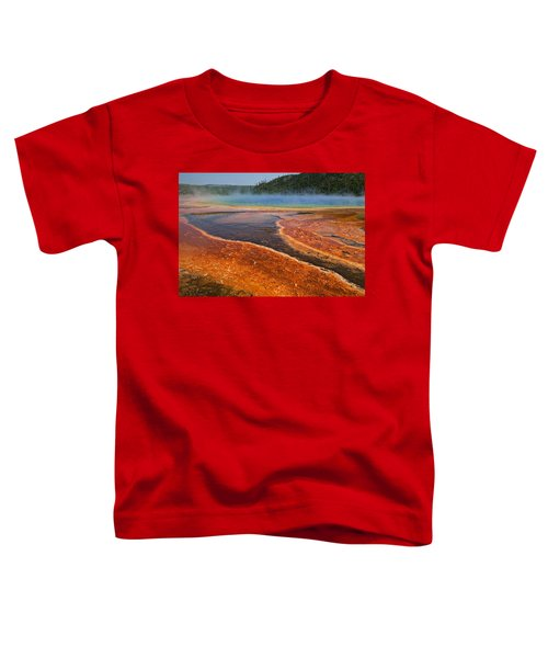 Middle Hot Springs Yellowstone Toddler T-Shirt