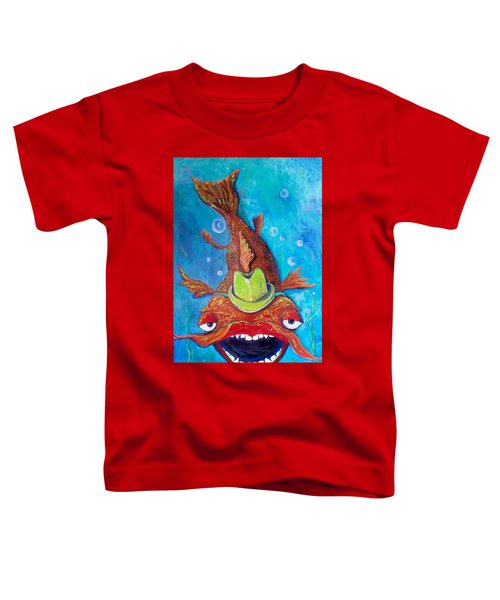 Catfish Clyde Toddler T-Shirt by Vickie Scarlett-Fisher