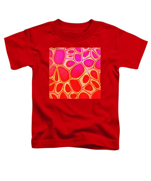 Cells Abstract Three Toddler T-Shirt by Edward Fielding