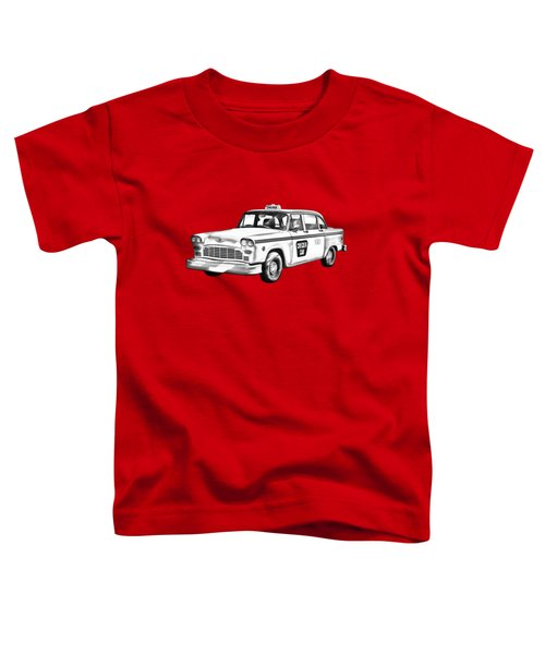 Checkered Taxi Cab Illustrastion Toddler T-Shirt by Keith Webber Jr