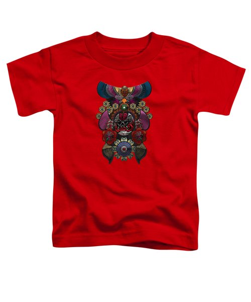 Chinese Masks - Large Masks Series - The Demon Toddler T-Shirt by Serge Averbukh