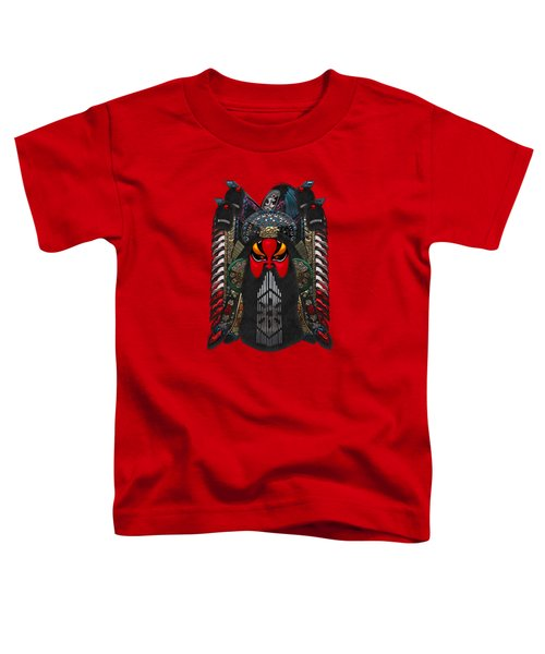 Chinese Masks - Large Masks Series - The Red Face Toddler T-Shirt by Serge Averbukh