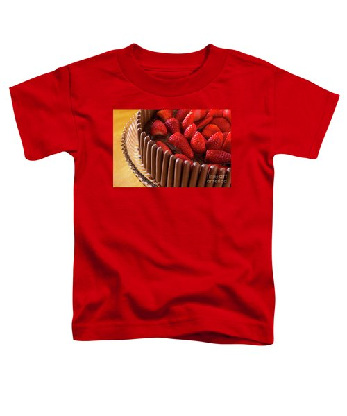 Chocolate And Strawberry Cake Toddler T-Shirt