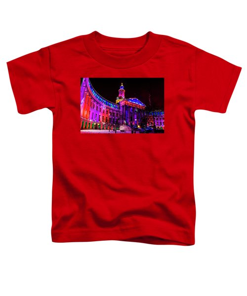 Denver City And County Building Holiday Lights Toddler T-Shirt
