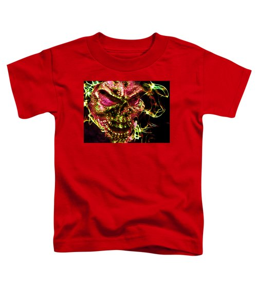 Flaming Skull Toddler T-Shirt