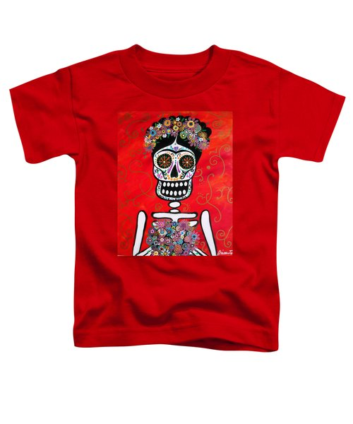 Frida Dia De Los Muertos Toddler T-Shirt