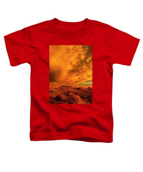 Red Rock Coulee Sunset 2 Toddler T-Shirt