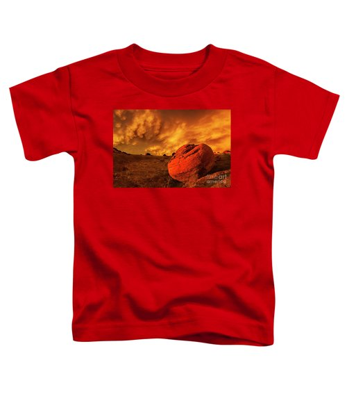 Red Rock Coulee Sunset 3 Toddler T-Shirt