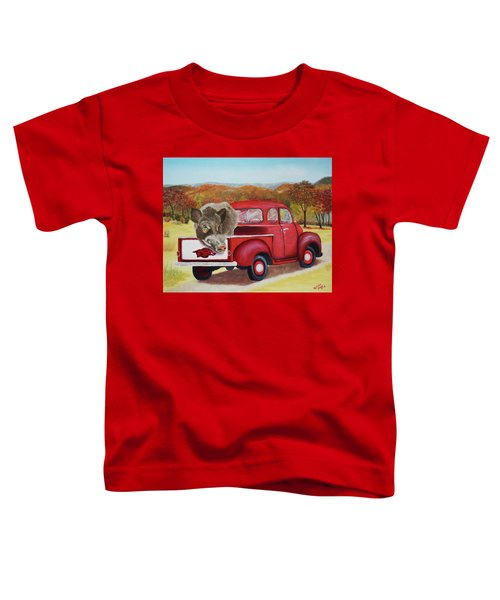 Ridin' With Razorbacks 2 Toddler T-Shirt by Belinda Nagy