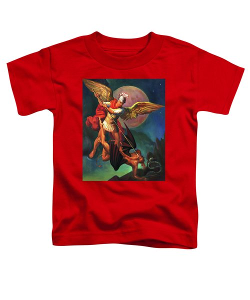 Saint Michael The Warrior Archangel Toddler T-Shirt