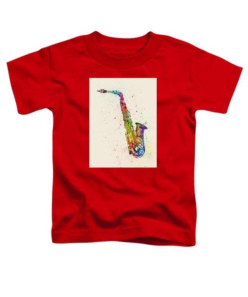 Saxophone Abstract Watercolor Toddler T-Shirt