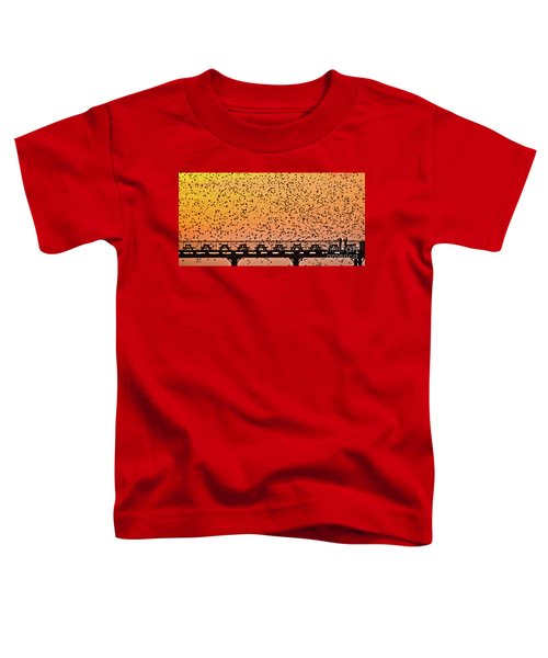 Sunset And Starlings In Aberystwyth Wales Toddler T-Shirt