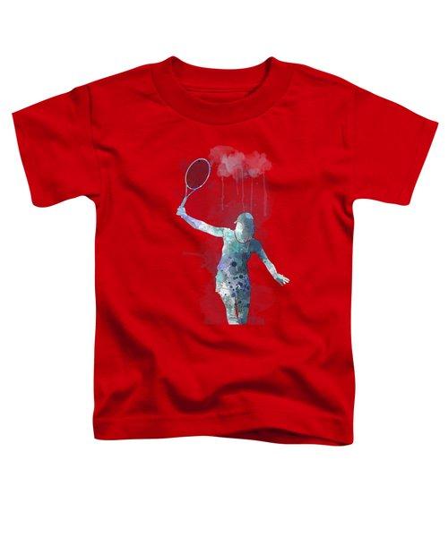 Tennis Player Toddler T-Shirt by Marlene Watson