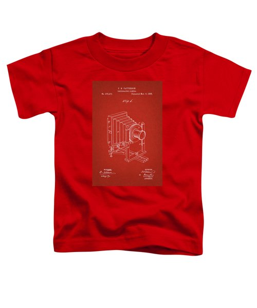 1888 Camera Us Patent Invention Drawing - Red Toddler T-Shirt