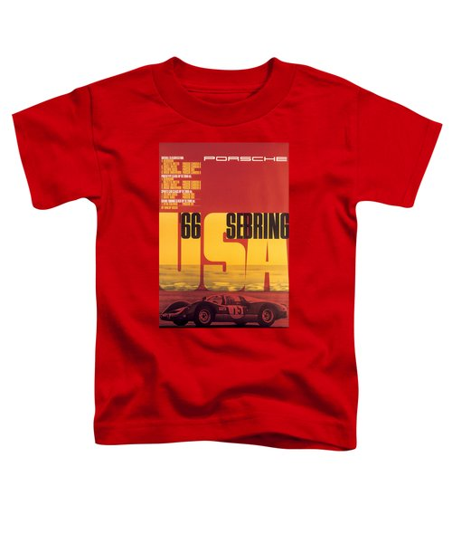1966 Porsche 12 Hours Of Sebring Toddler T-Shirt