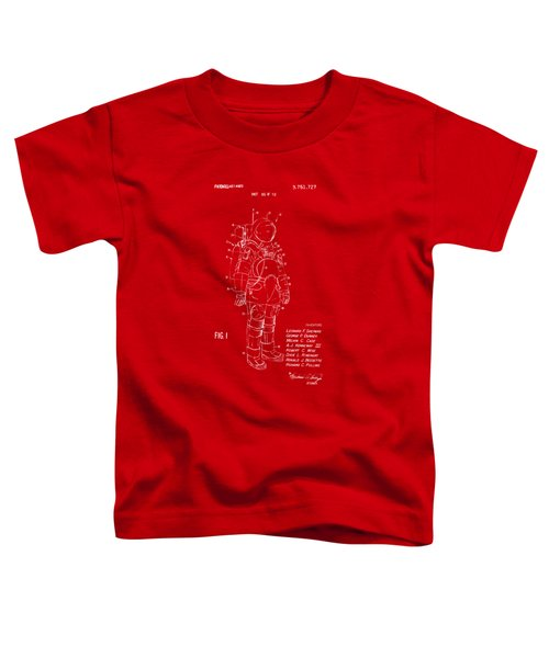 1973 Space Suit Patent Inventors Artwork - Red Toddler T-Shirt by Nikki Marie Smith