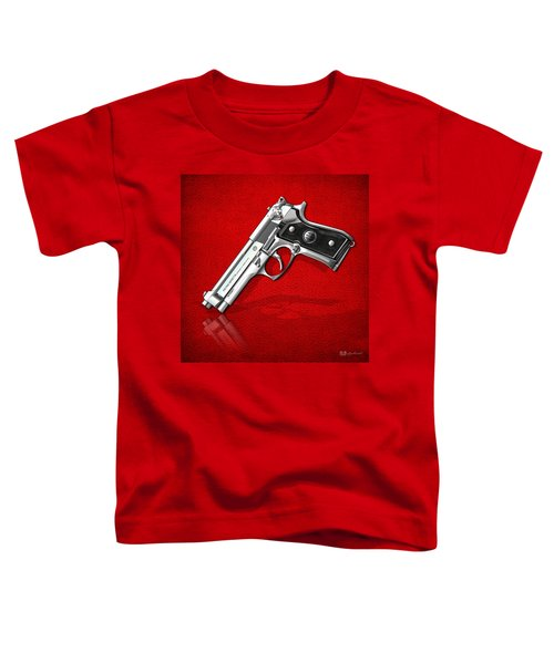Beretta 92fs Inox Over Red Leather  Toddler T-Shirt