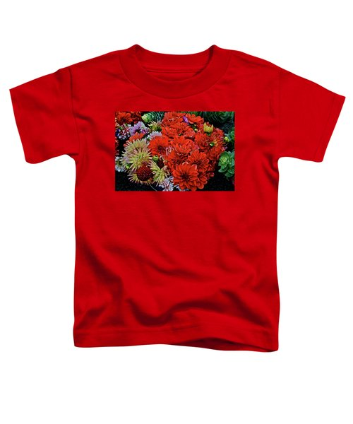 2017 Mid October Monona Farmers' Market Buckets Of Blossoms 1 Toddler T-Shirt