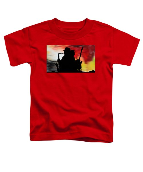 Bruce Springsteen Clarence Clemons Toddler T-Shirt by Marvin Blaine