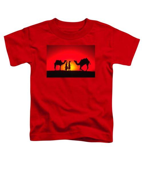 Camels At Sunset Toddler T-Shirt