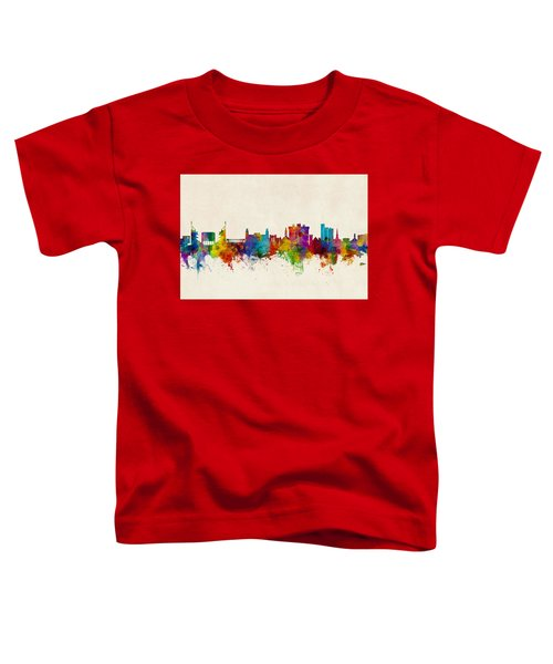 Fayetteville Arkansas Skyline Toddler T-Shirt