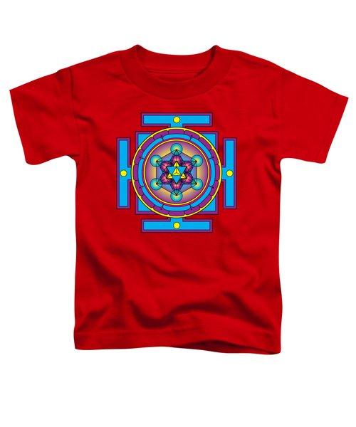 Metatron's Cube Merkaba Mandala Toddler T-Shirt